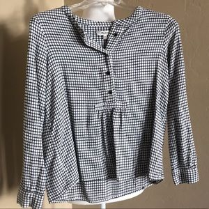 Madewell thick gingham blouse